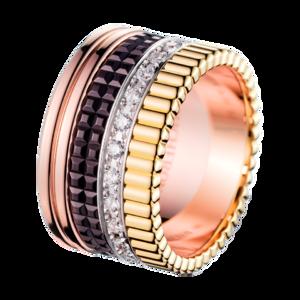 Boucheron Quatre Classique Large Ring With Diamonds