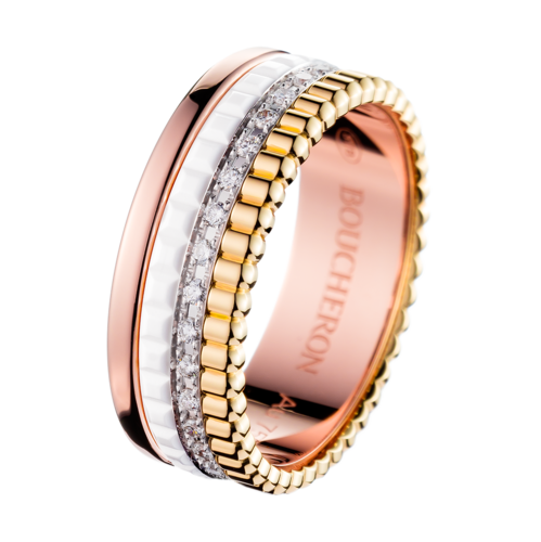 Boucheron Quatre White Edition Small Ring With Diamonds