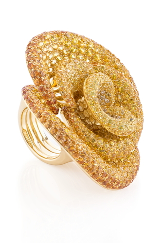Cantamessa Rosa Yellow Ring R0031WY