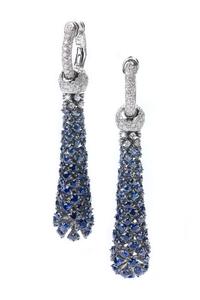 Cantamessa Premiere Blue Sapphires Earrings E0560WB