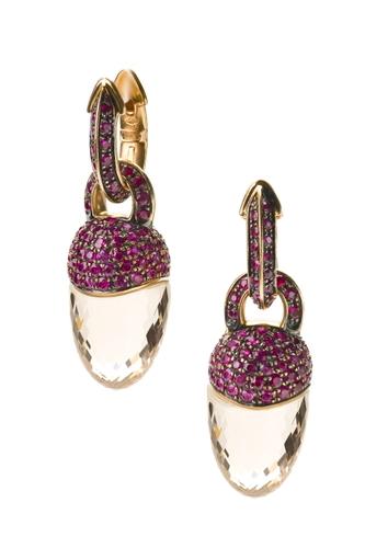 Cantamessa Central Park Ruby Earrings E 0585