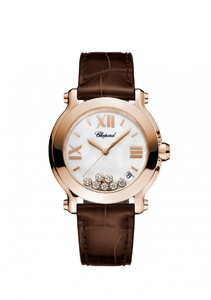 Chopard Happy Sport Medium Watch Rose Gold 277471-5002