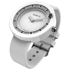 Damiani BELLE EPOQUE White Ceramic and Diamonds Ref.30014562