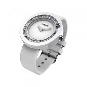 Damiani BELLE EPOQUE White Ceramic and Sapphires 30014564