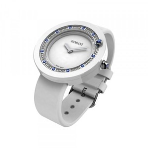 Damiani BELLE EPOQUE White Ceramic and Sapphires 30014564
