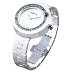 Damiani BELLE EPOQUE White Ceramic and Sapphires Ref.30017760