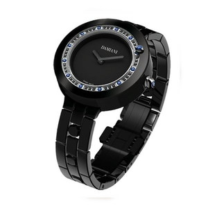Damiani BELLE EPOQUE Black Ceramic and Sapphires 30017763