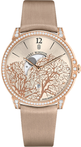 Женские часы Harry Winston Midnight Moon Phase 450/UQMP39RL.W1/D3.1