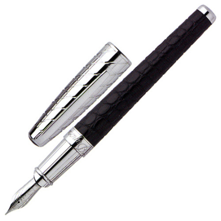 S.T. Dupont Alligator Palladium Fountain Pen XL, 480851M