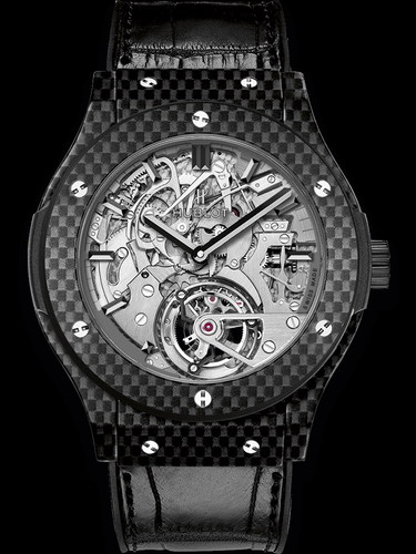 Hublot Classic Fusion Tourbillon Cathedral Minute Repeater Carbon 45mm 504.QX.0110.LR