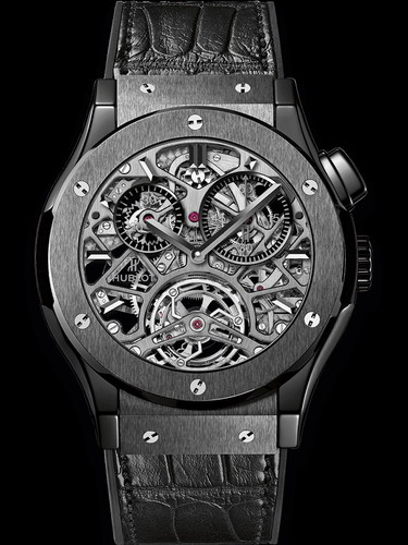 Hublot Classic Fusion Tourbillon Skeleton All Black 45mm 506.CM.0140.LR