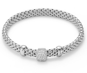 Fope браслет FLEX'IT VENDOME White Gold Pave Diamonds 561B PAVEM