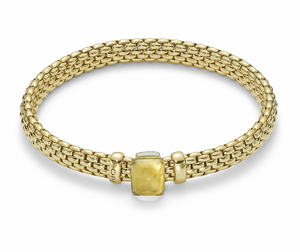 Fope браслет FLEX'IT VENDOME Yellow Gold Citrine 561B PTR2M