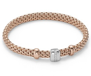 Fope браслет FLEX'IT VENDOME Rose Gold Diamonds 561B BBRM