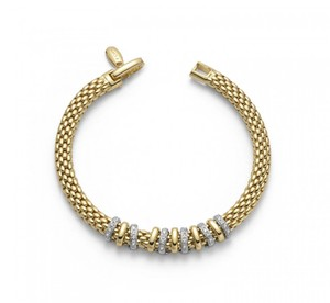 Fope браслет VIRGINIA Yellow Gold Diamonds 597B BBR