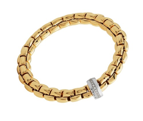 Fope браслет FLEX'IT EKA Yellow Gold Diamonds 604B BBR