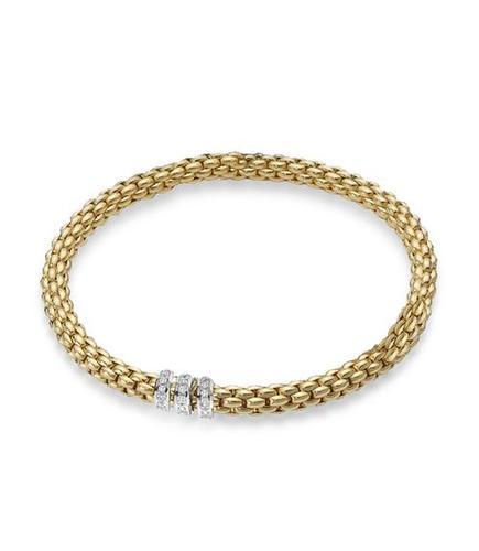 Fope браслет FLEX'IT SOLO Yellow Gold Diamond 623B BBRM