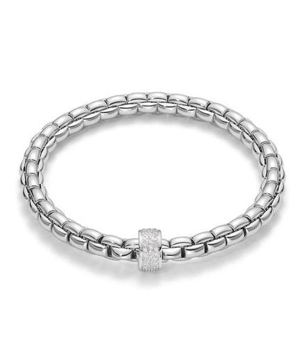 Fope браслет FLEX'IT EKA White Gold Pave Diamonds 704B PAVE