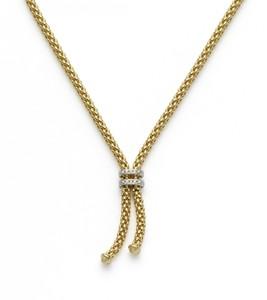 Fope колье MAORI Yellow Gold Tassle Necklace Diamond 809 BBR