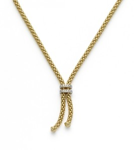 Fope колье MAORI Yellow Gold Tassle Necklace Diamond 809 BBR
