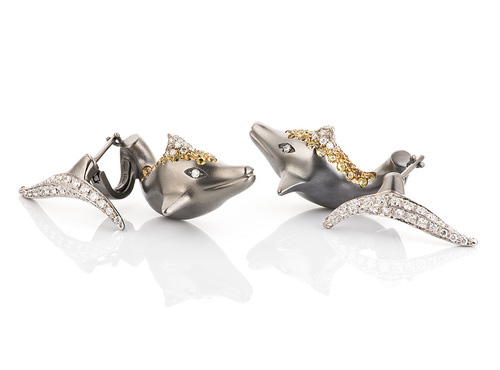 Cantamessa Dolphin Earrings EDP1037