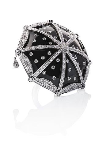 Cantamessa Umbrella Ring Black RU348/В