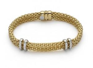 Fope браслет MAORI Yellow Gold Diamonds 862B BBR