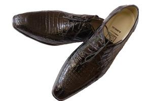 Туфли A.Testoni черный крокодил