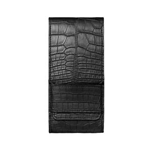 Вертикальный Чехол Vertu Signature Touch из кожи аллигатора черного цвета с откидным клапаном