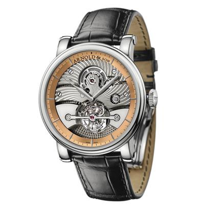 Arnold & Son Tourbillon Sir John (WG-RG / Silver / Leather)