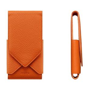 Вертикальный Чехол-оригами Vertu Constellation V из кожи оранжевого цвета