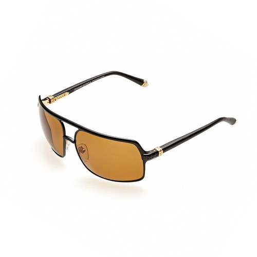 Chrome Hearts AIR JERK Matte Black/Gold Plated-Black Leather