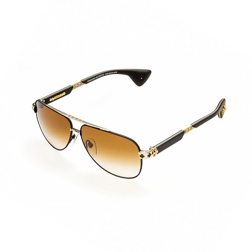 Chrome Hearts DRAG KING I Matte Black/Gold Plated-Matte Black-Plastic