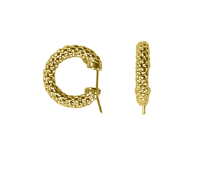 Fope серьги LUCI Yellow Gold Hoop Earrings F125