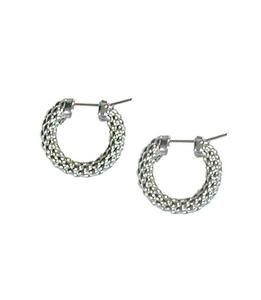 Fope серьги LUCI White Gold Hoop Earrings F85