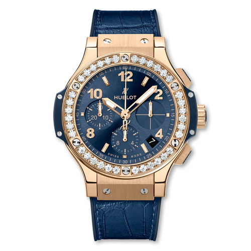 Hublot Big Bang Gold Blue Diamonds 41mm 341.PX.7180.LR.1204