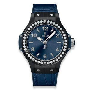 Hublot Big Bang Ceramic Blue Diamonds 38mm 361.CM.7170.LR.1204