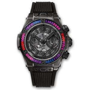 Hublot Big Bang Unico All Black Sapphire Galaxy 45mm 411.JB.4901.RT.4098