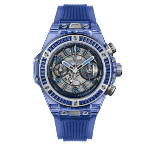 Hublot Big Bang Unico Blue Sapphire Baguettes 45 mm 411.JL.4809.RT.1901