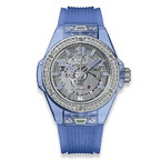 Hublot Big Bang One Click Blue Sapphire Diamonds 39mm 465.JL.4802.RT.1204