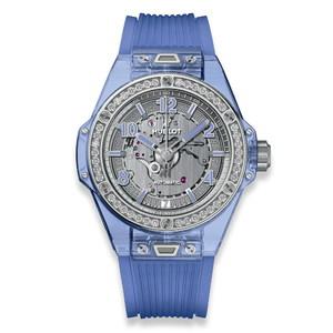 Hublot Big Bang One Click Blue Sapphire Diamonds 39mm 465.JL.4802.RT.1204