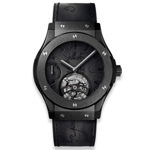 Hublot Classic Fusion Tourbillon Power Reserve 5 Days Berluti Scritto All Black 45mm 505.CM.0500.VR.BER17