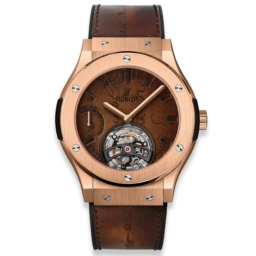 Hublot Classic Fusion Tourbillon Power Reserve 5 Days Berluti Scritto King Gold 45mm 505.OX.0500.VR.BER17