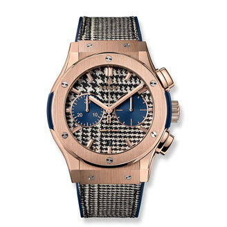 Hublot Classic Fusion Chronograph Italia Independent Pieds-De-Poule King Gold 45mm 521.OX.2704.NR.ITI17