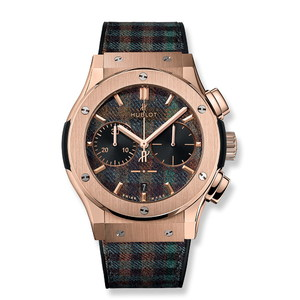 Hublot Classic Fusion Chronograph Italia Independent Tartan King Gold 45mm 521.OX.2705.NR.ITI17