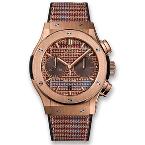 Hublot Classic Fusion Chronograph Italia Independent Prince-De-Galles King Gold 45mm 521.OX.2709.NR.ITI18