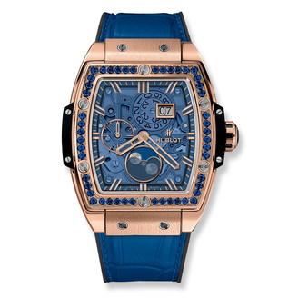 Hublot Spirit Of Big Bang Moonphase King Gold Dark Blue 42mm 647.OX.5181.LR.1201