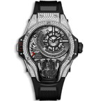 Hublot MP-09 Tourbillon Bi-Axis Titanium Pave 49mm 909.NX.1120.RX.1704