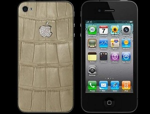 IPHONE 4 LUXURY DIAMOND ALLIGATOR