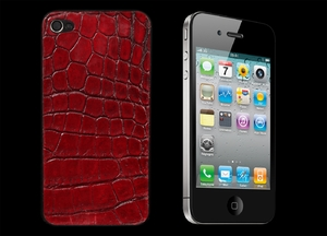 IPHONE 4 LUXURY RED ALLIGATOR